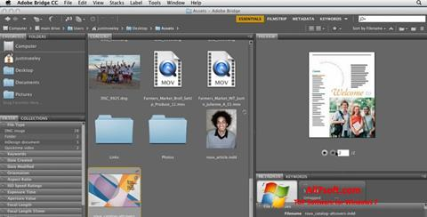 Screenshot Adobe Bridge untuk Windows 7