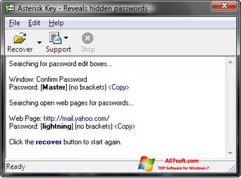 Screenshot Asterisk Key untuk Windows 7