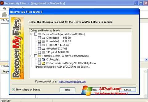 Screenshot Recover My Files untuk Windows 7