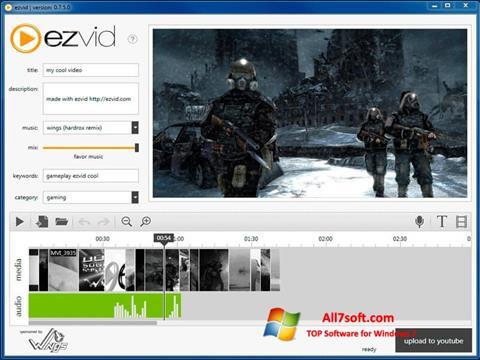 Screenshot Ezvid untuk Windows 7