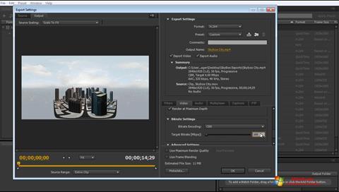 Screenshot Adobe Media Encoder untuk Windows 7
