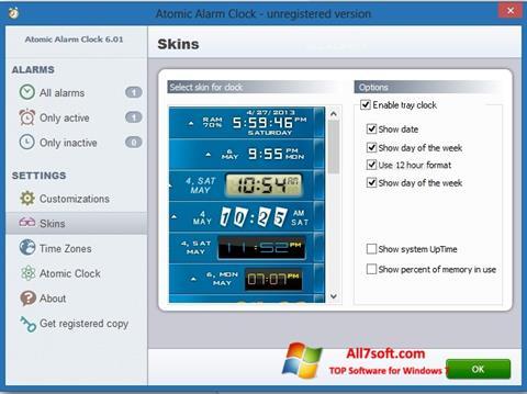 Screenshot Atomic Alarm Clock untuk Windows 7