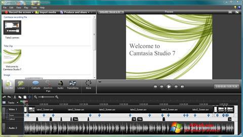Screenshot Camtasia Studio untuk Windows 7