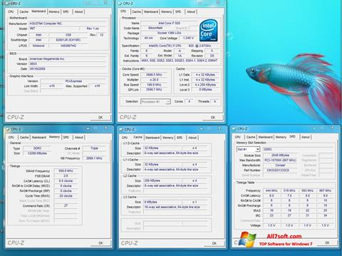 Screenshot CPU-Z untuk Windows 7