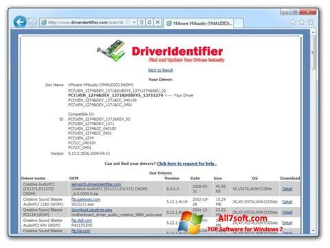 Screenshot Driver Identifier untuk Windows 7