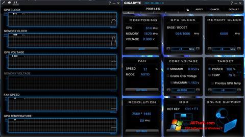 Screenshot GIGABYTE OC Guru untuk Windows 7