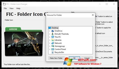 Screenshot Icon Changer untuk Windows 7