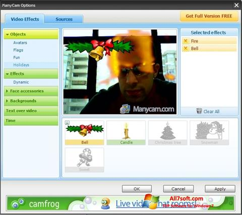 Screenshot ManyCam untuk Windows 7