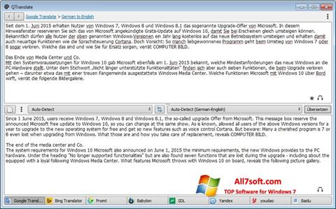 Screenshot QTranslate untuk Windows 7