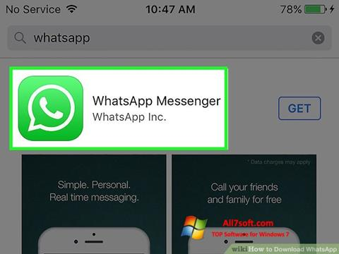 Screenshot WhatsApp untuk Windows 7