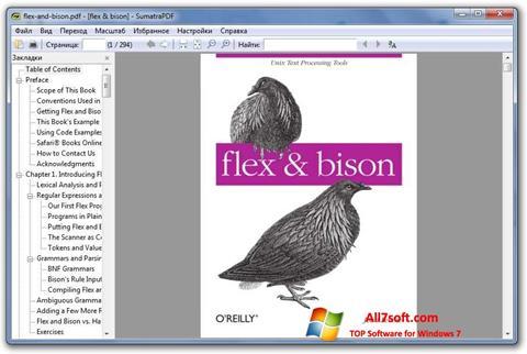 Screenshot Sumatra PDF untuk Windows 7