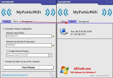 Screenshot MyPublicWiFi untuk Windows 7