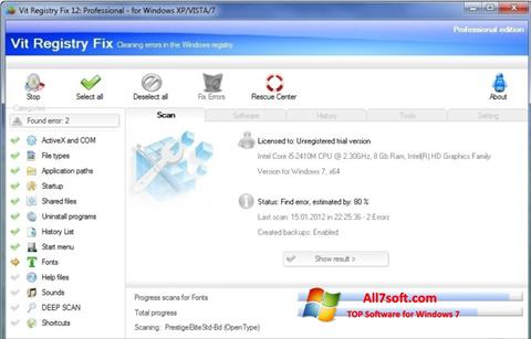 Screenshot Vit Registry Fix untuk Windows 7