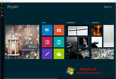 Screenshot PicsArt untuk Windows 7