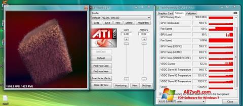 Screenshot ATITool untuk Windows 7