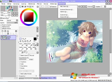 Screenshot Paint Tool SAI untuk Windows 7