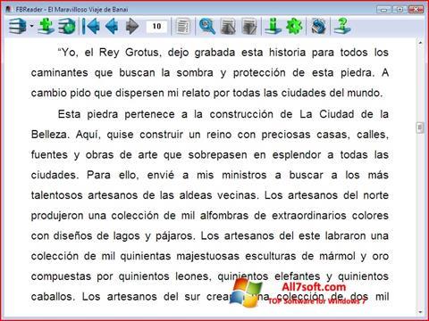 Screenshot FBReader untuk Windows 7