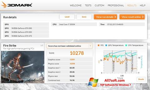 Screenshot 3DMark untuk Windows 7