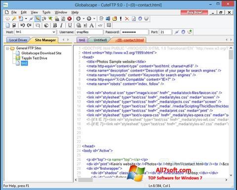 Screenshot CuteFTP untuk Windows 7