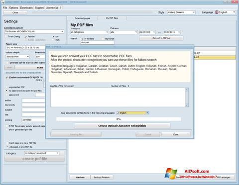 Screenshot Scan2PDF untuk Windows 7