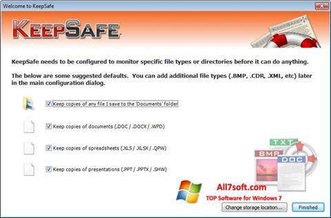 Screenshot KeepSafe untuk Windows 7