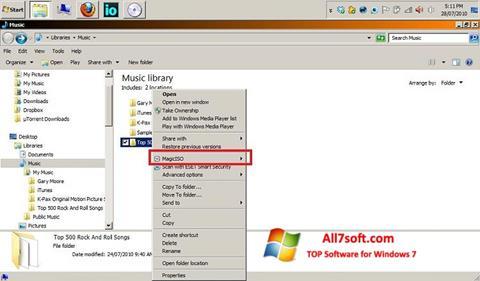 Screenshot MagicISO untuk Windows 7