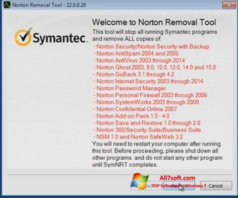 Screenshot Norton Removal Tool untuk Windows 7