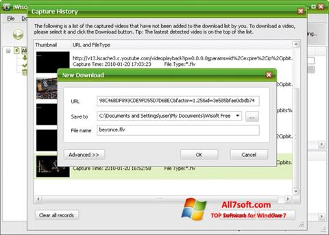 Screenshot Free Video Catcher untuk Windows 7