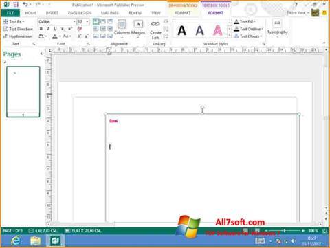 Screenshot Microsoft Publisher untuk Windows 7