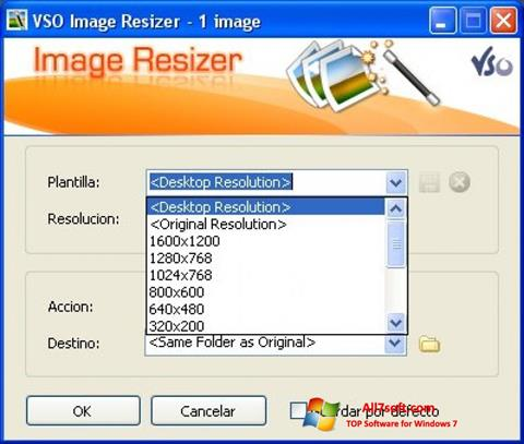 Screenshot VSO Image Resizer untuk Windows 7
