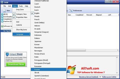 Screenshot Orbit Downloader untuk Windows 7