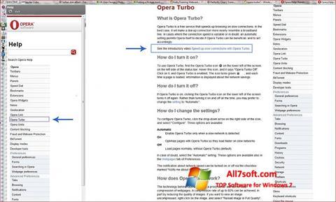 Screenshot Opera Turbo untuk Windows 7