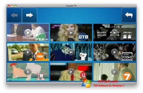 Screenshot Crystal TV untuk Windows 7