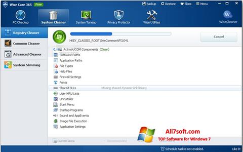 Screenshot Wise Care 365 untuk Windows 7
