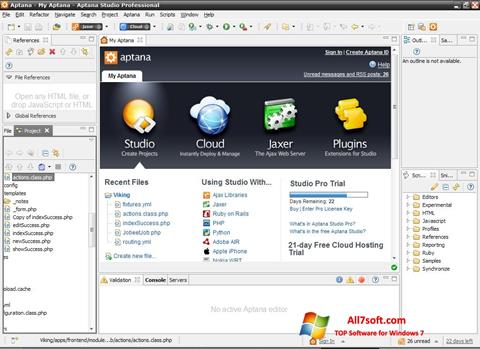Screenshot Aptana Studio untuk Windows 7