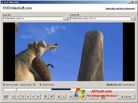 Screenshot Free Video Dub untuk Windows 7