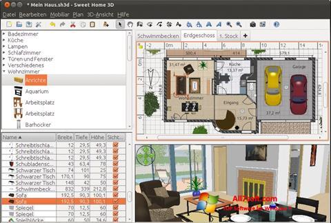 Screenshot Sweet Home 3D untuk Windows 7