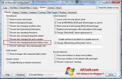 Screenshot Ad Muncher untuk Windows 7