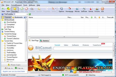 Screenshot BitComet untuk Windows 7