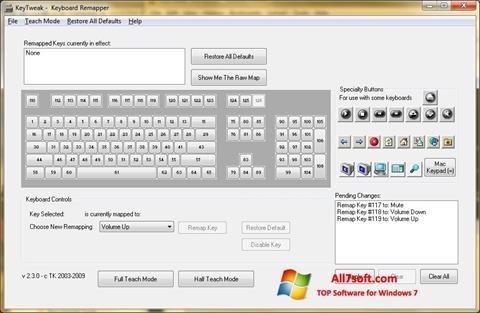 Screenshot KeyTweak untuk Windows 7