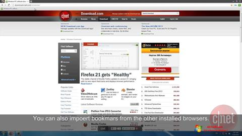 Screenshot Comodo Dragon untuk Windows 7