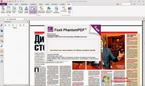 Screenshot Foxit Phantom untuk Windows 7