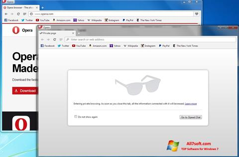 Screenshot Opera Next untuk Windows 7