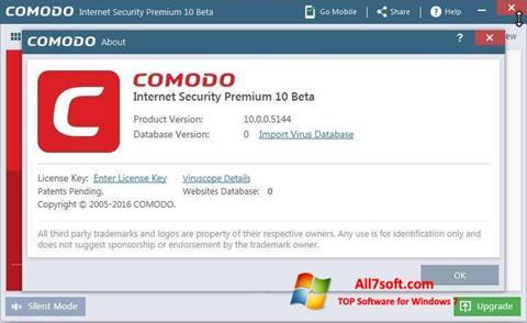 Screenshot Comodo untuk Windows 7