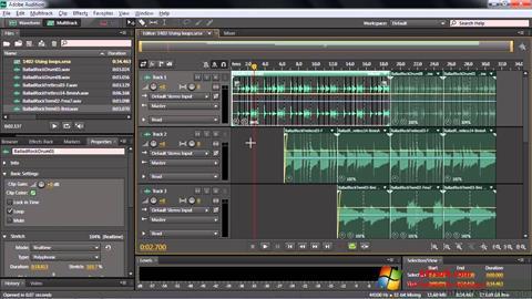 Screenshot Adobe Audition CC untuk Windows 7