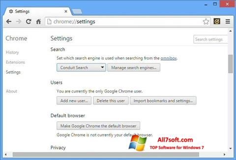 Screenshot Chrome Cleanup Tool untuk Windows 7