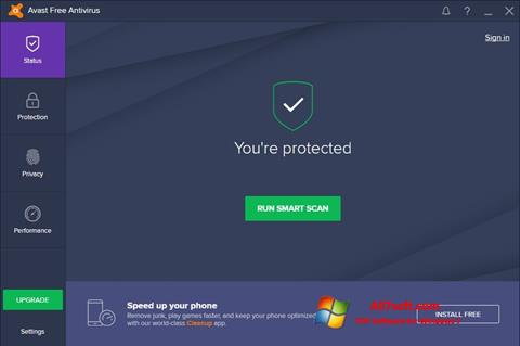 Screenshot Avast Free Antivirus untuk Windows 7