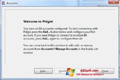 Screenshot Pidgin untuk Windows 7