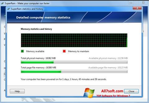 Screenshot SuperRam untuk Windows 7