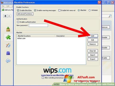 Screenshot uBlock untuk Windows 7
